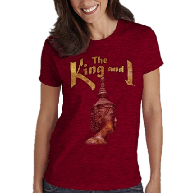 King and I Ladies Antique Cherry Tee- Customizable