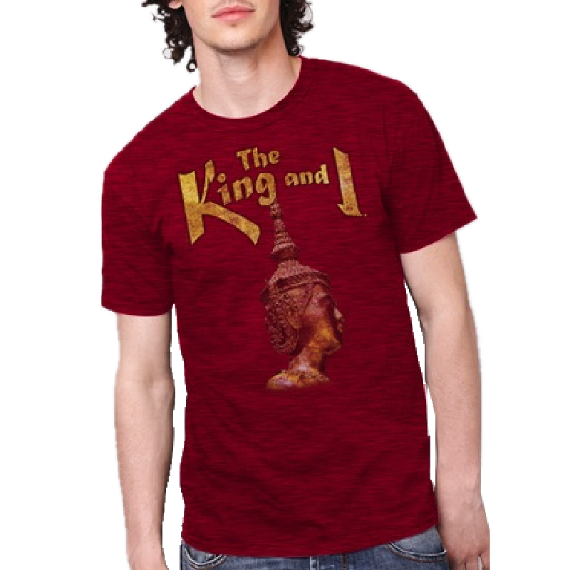 King and I Unisex Antique Cherry Tee