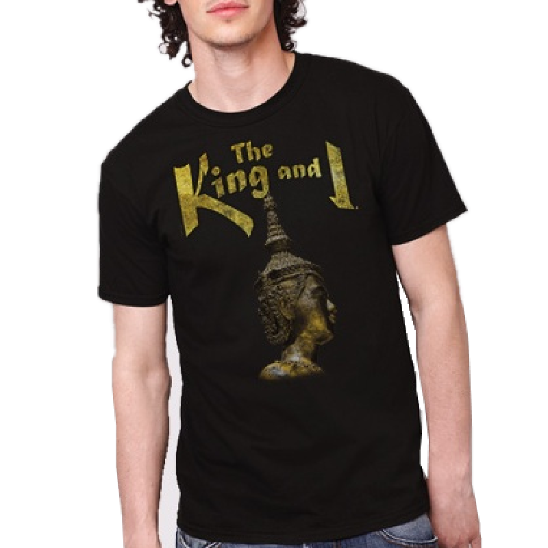 The King and I Unisex Black Tee- Show Design