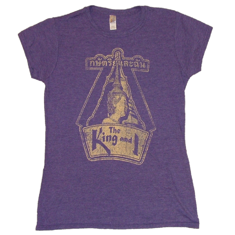 King and I Ladies Heather Purple Tee- Customizable