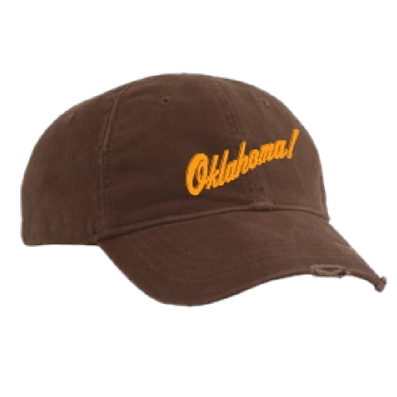 Oklahoma Distressed Brown Ballcap