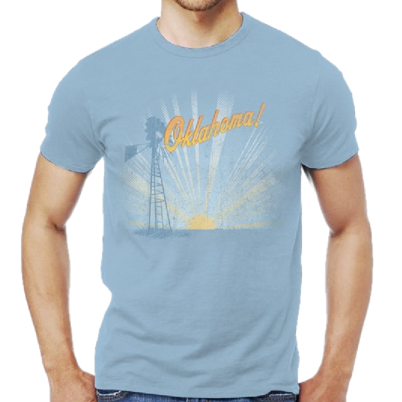 Oklahoma Unisex Light Blue Tee- Customizable