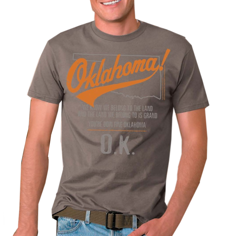 Oklahoma Unisex Savana Brown Tee- Customizable