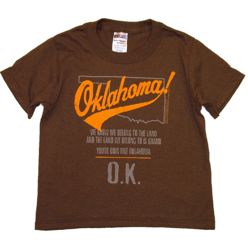 Oklahoma YOUTH Chocolate Tee-Customizeable
