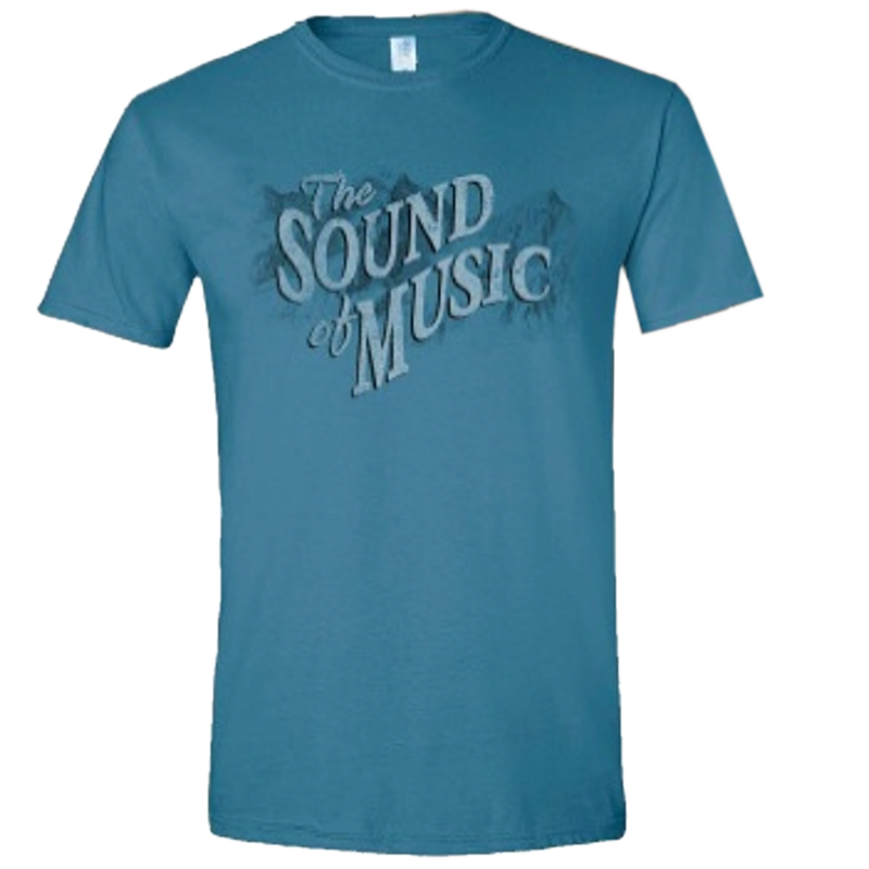 Sound of Music Unisex Indigo Blue Title Tee