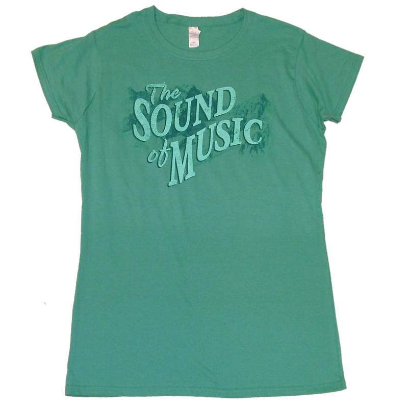 Sound of Music Ladies Scrub Green Tee- Customizable