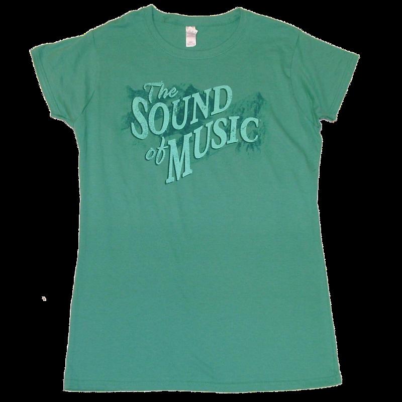 Sound of Music Ladies Scrub Green Tee