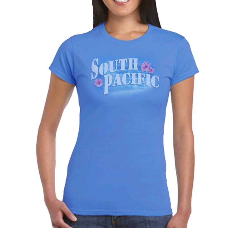 South Pacific Ladies Blue Tee- Customizable