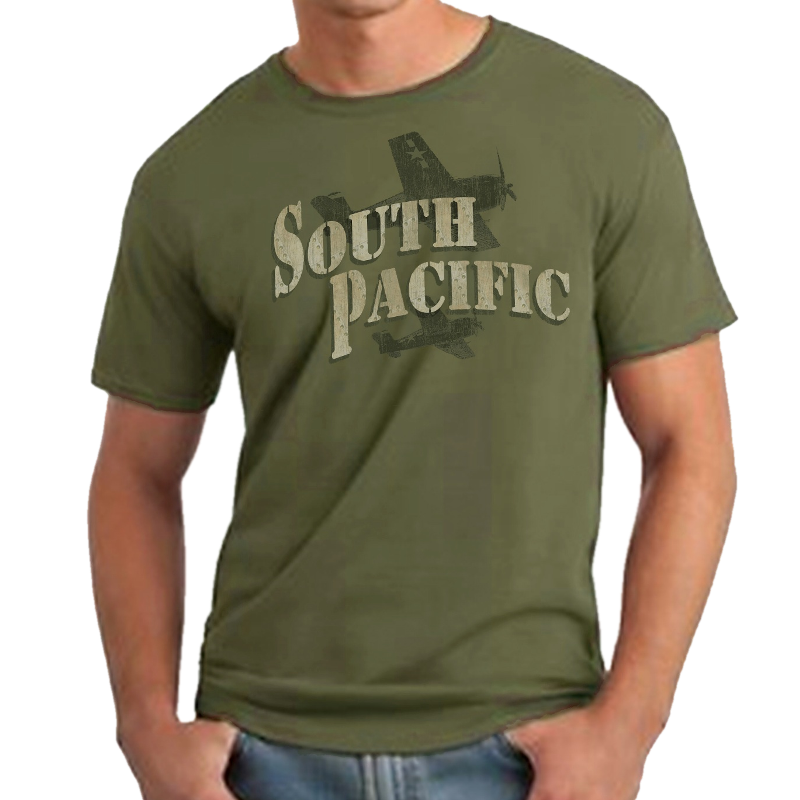 South Pacific Unisex Military Green Tee- Customizable